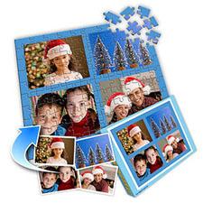 圣诞节主题 10×8英寸个性拼盘拼图 4图拼贴
