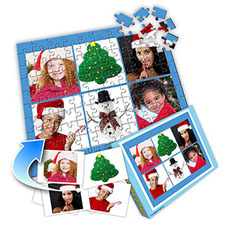 圣诞节主题 10×8英寸个性拼盘拼图 6图拼贴