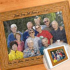 木纹边框主题 16×12英寸照片拼盘拼图
