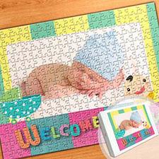 宝宝满月主题 16×12英寸照片拼盘拼图