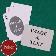 双面定制扑克牌(正面椭圆形,背面横式)