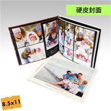 8.5x11寸横版精装硬皮相册定制照片书