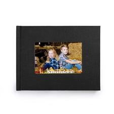 8.5x11寸经典黑色亚麻封面相册定制照片书