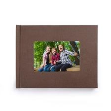 8.5x11寸经典褐色亚麻封面相册定制照片书