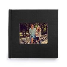 12x12寸经典黑色亚麻封面相册定制照片书