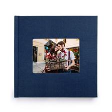 12x12寸经典蓝色亚麻封面相册定制照片书