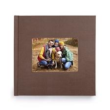 12x12寸经典褐色亚麻封面相册定制照片书