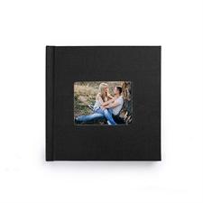 8x8寸经典黑色亚麻封面相册个性照片书