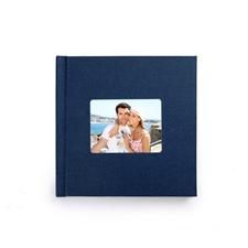 8x8经典海军蓝色亚麻封面相册定制照片书
