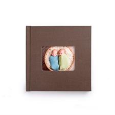 8x8寸经典褐色亚麻封面相册定制照片书