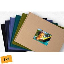 8x8寸精装海军蓝仿皮封面相册定制照片书
