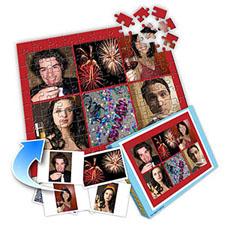 经典新年红色主题 10×8英寸个性拼图 6图拼贴