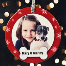 定制宠物狗照片圣诞节挂饰