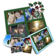 绿色图片 10×8英寸个性拼盘拼图 4图拼贴