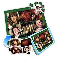 梦幻绿 10×8英寸个性拼盘拼图 6图拼贴