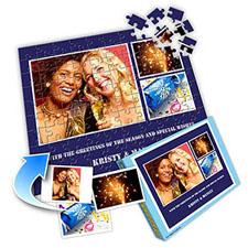 快乐蓝 10×8英寸个性拼盘拼图 3图拼贴