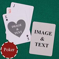 爱之心语 双面定制扑克牌(正面心形)