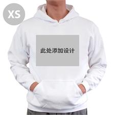 定制个性化白色套头连帽卫衣 XS码