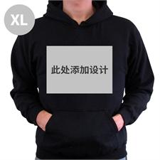 定制个性化黑色套头连帽卫衣 XL码