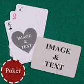 双面定制扑克牌(正面心形)