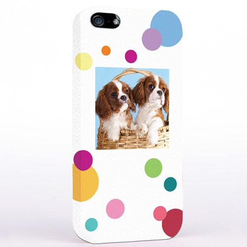 Personalized Colorful Polka Dots Photo iPhone 5 iPhone Case