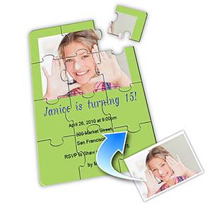 浅绿色 生日主题 5×7英寸小号照片拼图