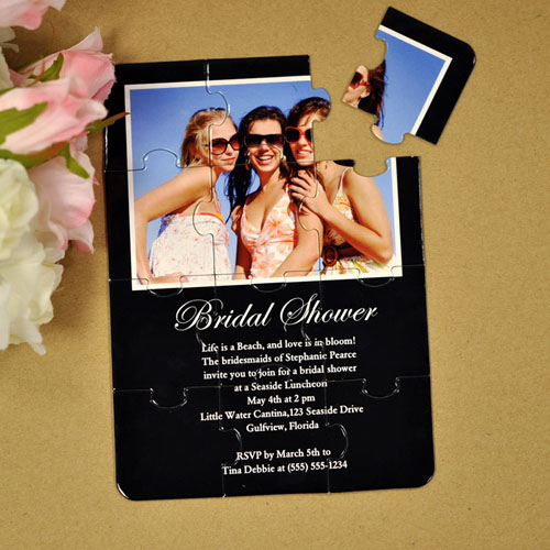 黑色 婚礼主题 5×7英寸小号照片拼图