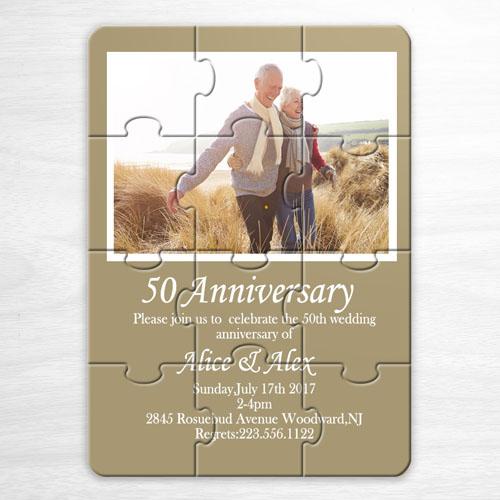 米色 婚礼主题 5×7英寸小号照片拼图