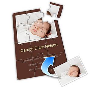 巧克力色 宝宝纪念 5×7英寸小号照片拼图
