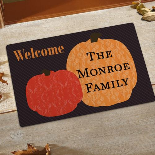 Create Your Own Welcome Pumpkins Door Mat