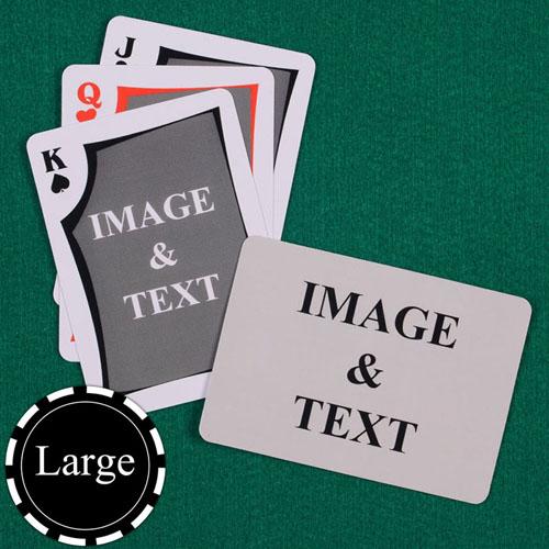 时尚款 双面定制 大号个性扑克牌(横式)