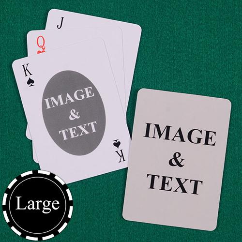 椭圆款 双面定制 大号个性扑克牌