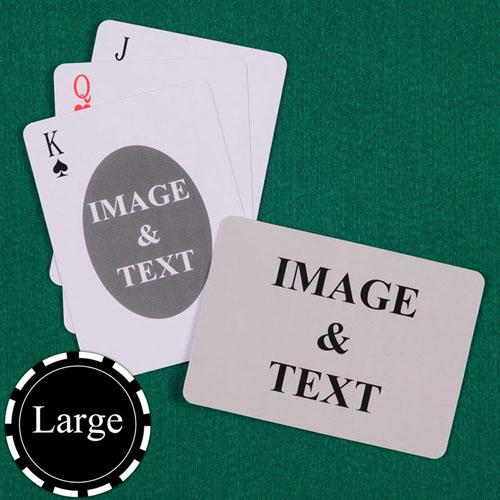 椭圆款 双面定制 大号个性扑克牌(横式)