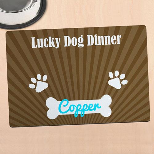 幸运狗晚餐个性化餐垫