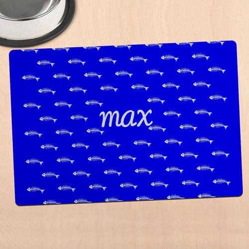蓝色猫咪个性化餐垫