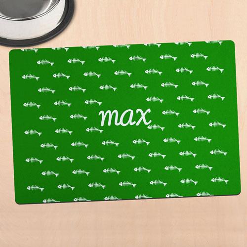 绿色猫咪个性化餐垫