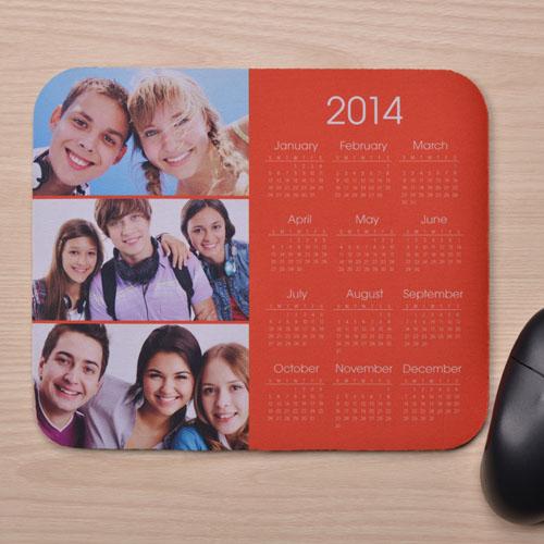 3图拼盘 带日历鼠标垫 橙色 2015
