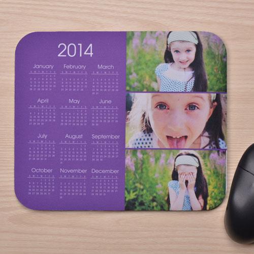 3图拼盘 带日历鼠标垫 淡紫色 2015
