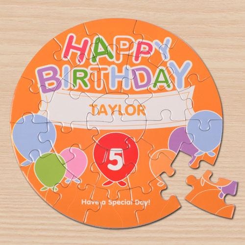圆形拼图 生日主题