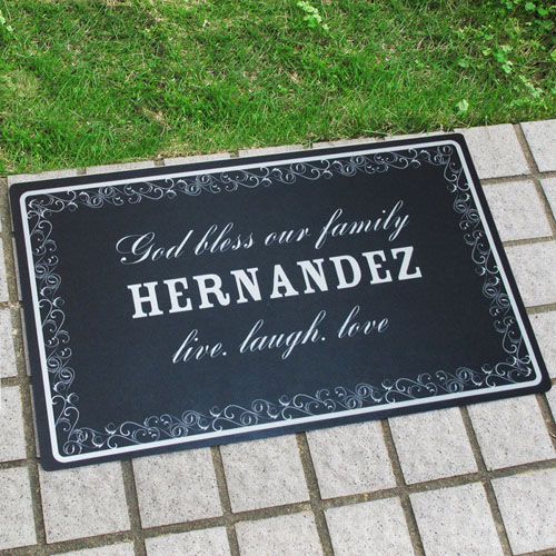 Create Your Own Personalized Family Is Forever Door Mat