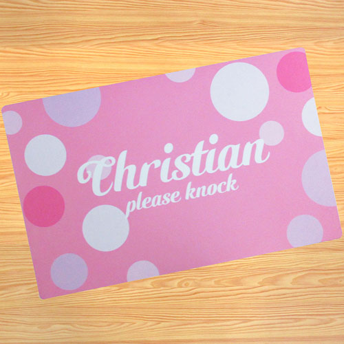 Create Your Own Personalized Girl My Name Door Mat