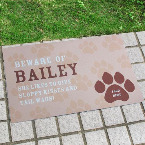 Create Your Own Personalized My Pet Door Mat