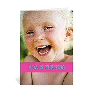 粉红色随心款生日卡 个性贺卡